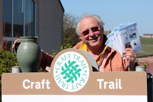 Orkney Crafts Association chair, Andrew Appleby, pictured with the new Orkney Craft Trail brochure