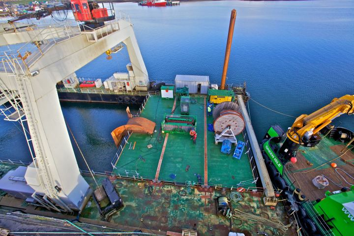 Orkney tidal array cabling project operations. Pic by Colin Keldie.