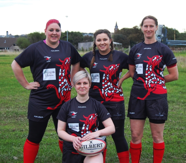 Members of the Orkney RFC Women's squad, pictured in their new Alison Moore Designs sponsored shirts.jpg