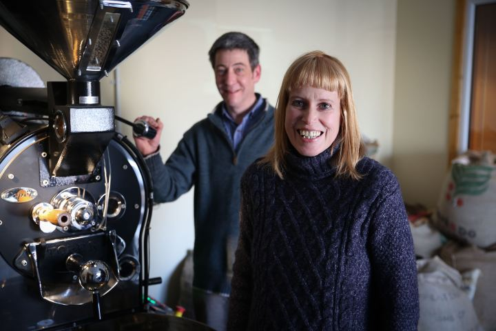 Euan Smith and Sara Tait, of The Orkney Roastery