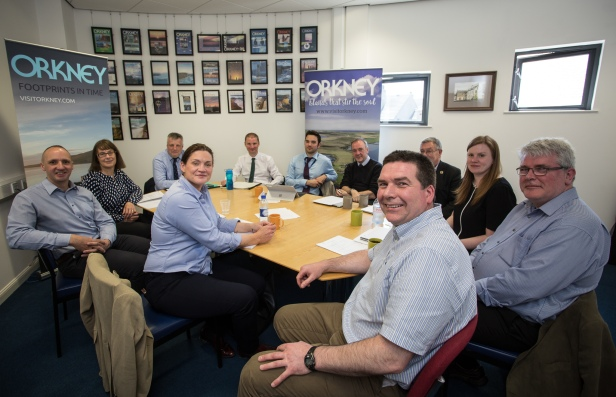 Members of the new Destination Orkney tourism partnership meeting for the first time in Kirkwall. Image by Fionn McArthur, Start Point Media-2