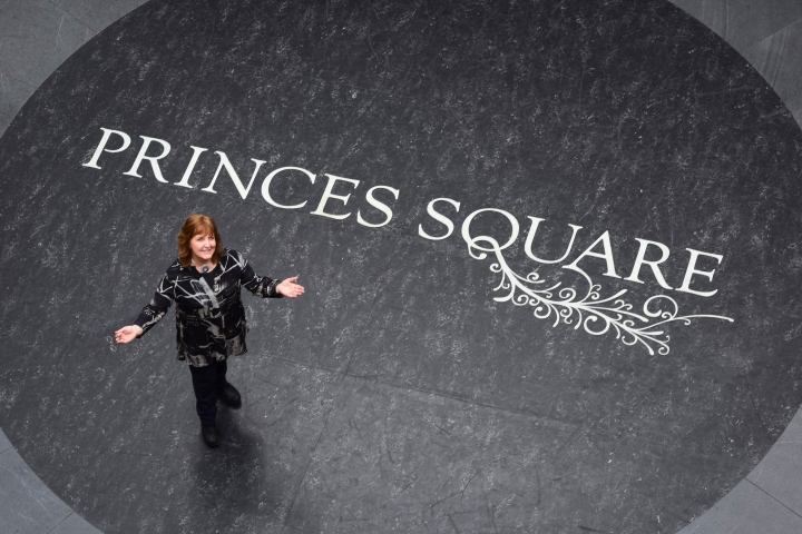 Sheila Fleet, pictured within Princes Square, ahead of the opening of her new shop. Image by Julie Howden.